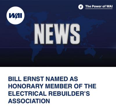 Bill Ernst named as Honorary Member of the Electrical Rebuilder's Association