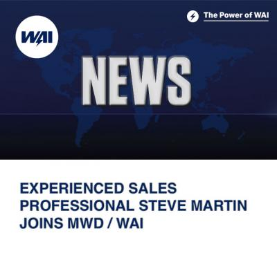 Experienced Sales Professional Steve Martin joins MWD / WAI