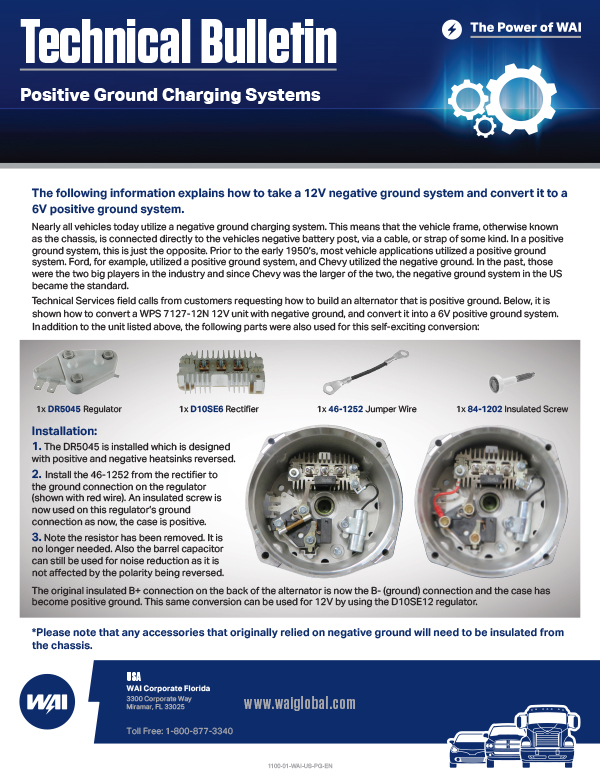 Positive Ground Charging Systems