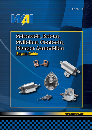 Solenoids, Relays, Switches, Contacts, Plunger Assemblies